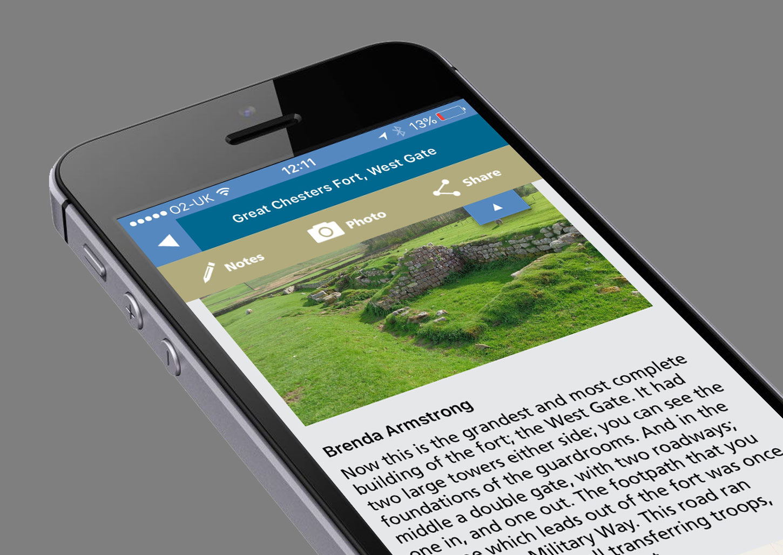 Hadrians Wall smartphone app