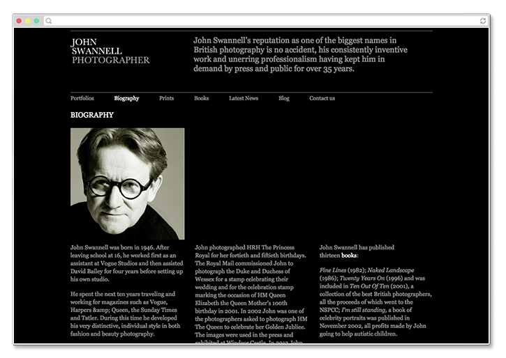 John Swannell Website